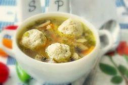 Изображение рецепта Сырный суп с грибами и фрикадельками