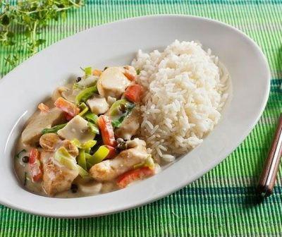 Изображение рецепта ''Курица с овощами и сливками''