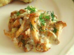 Изображение рецепта Лисички в сырном соусе