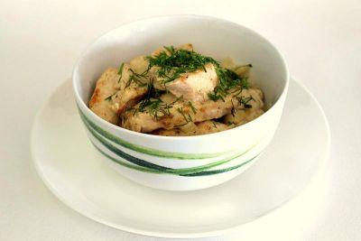Изображение рецепта ''Куриное филе в сметане с сыром''