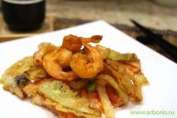 Изображение рецепта Темпура из овощей и креветок