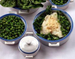 Изображение рецепта Треска с зеленым горошком