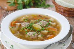 Изображение рецепта Суп с фрикадельками и овощами
