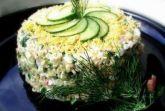 Салат с горбушей и свежим огурцом