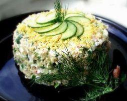 Изображение рецепта Салат с горбушей и свежим огурцом