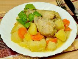 Изображение рецепта Куриные ножки с картошкой в мультиварке
