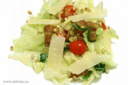 Изображение рецепта Хрустящий салат с теплым беконом