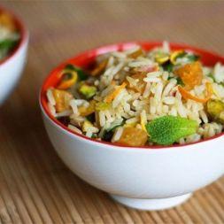 Изображение рецепта Пряный рис с фисташками