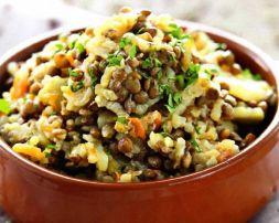 Изображение рецепта Вегетарианский плов с чечевицей