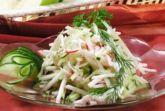 Салат с крабовым мясом и пекинской капустой