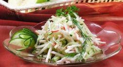 Изображение рецепта Салат с крабовым мясом и пекинской капустой