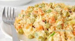 Изображение рецепта Салат из куриного филе с морковью и зеленым горошком