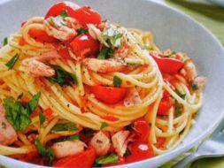 Изображение рецепта Паста с тунцом и помидорами