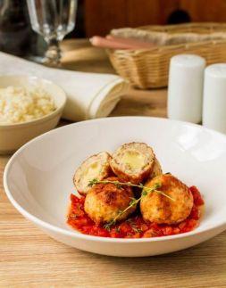 Изображение рецепта Куриные фрикадельки с моцареллой