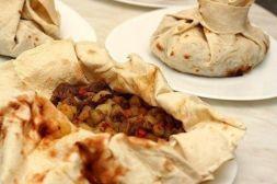 Изображение рецепта Мешочки из лаваша с начинкой