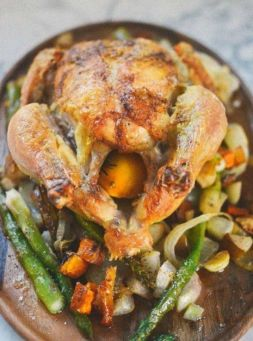 Изображение рецепта Запеченная курица с овощами и яблоками