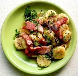 Изображение рецепта Галушки картофельные с беконом
