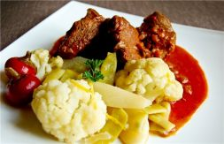 Изображение рецепта Душенина из говяжьей лопатки с овощами