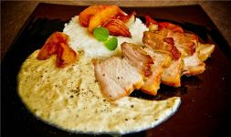 Изображение рецепта Подчеревок свиной в яблочно-луковом соусе