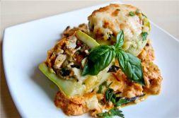 Изображение рецепта Кабачки, фаршированные курицей