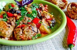 Изображение рецепта Жаркое из мяса с баклажанами