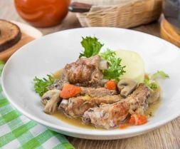 Изображение рецепта Тушеные свиные ребрышки с овощами