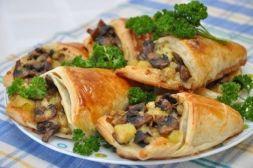 Изображение рецепта Открытые пирожки с грибами