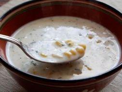 Изображение рецепта Сырный суп с кукурузой
