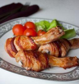 Изображение рецепта Куриные ножки в беконе