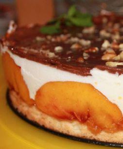 Изображение рецепта Персиковый торт-суфле