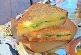 Хрустящие бутерброды с сыром и шпинатом
