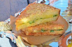 Изображение рецепта Хрустящие бутерброды с сыром и шпинатом
