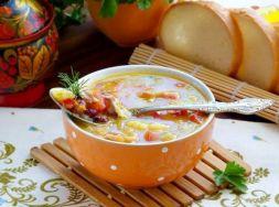 Изображение рецепта Куриный суп с овощами и фасолью в мультиварке