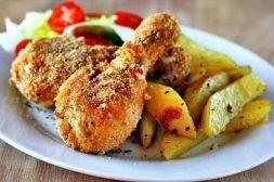 Изображение рецепта Хрустящие куриные ножки с арахисом