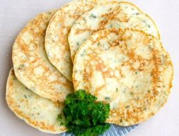 Изображение рецепта Сырные блинчики с зеленью