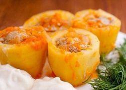 Изображение рецепта Фаршированный картофель по-деревенски