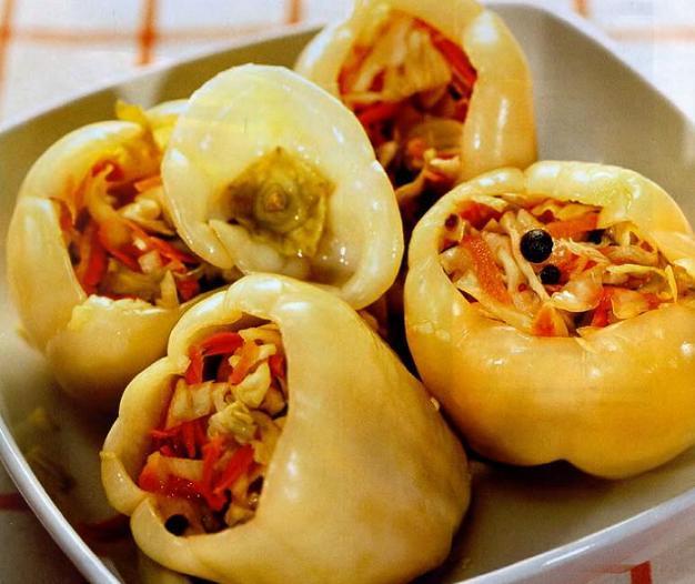 Перец болгарский фаршированный капустой рецепты
