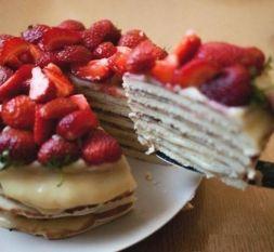 Изображение рецепта Творожный торт на сковороде