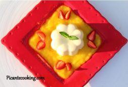 Изображение рецепта Кокосовая панна котта с соусом из манго