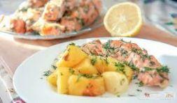 Изображение рецепта Семга с картофелем и укропом