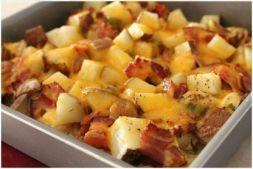 Изображение рецепта Кассероль с курицей и печеной картошкой