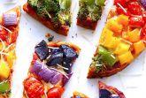 Овощная радуга-пицца