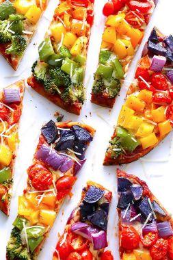 Изображение рецепта Овощная радуга-пицца