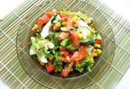Изображение рецепта Овощной салат с кукурузой
