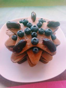 Изображение рецепта Веганские (постные) оладьи на овсяном молоке с кэробом