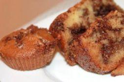 Изображение рецепта Сметанный кекс с шоколадно-ореховой начинкой
