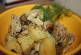 Картофель тушеный с курицей