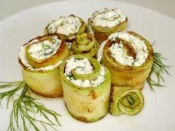 Изображение рецепта Рулетики из кабачков с сыром