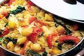 Бандгобхи алу сабджи (капуста жареная с картофелем)