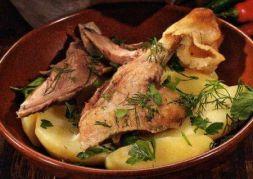 Изображение рецепта Гусь тушеный с картофелем в мультиварке
